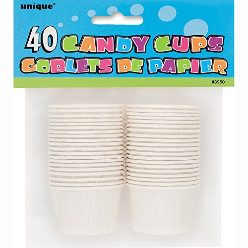 White Paper Candy Condiment Cups