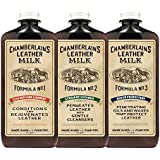 Leather Milk Leather Restoration Kit. Leather Cleaner, Conditioner, and Water Protector - No. 1 - 3 Leather Care Kit - All Natural, Non-Toxic. 2 Sizes. Made in the USA. Includes 3 Restoration Pads!