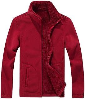 Giacche da Uomo Ntel da Uomo Thicken da Uomo Ntel Fleece Capispalla Warm Windbreaker Winter Outfit Red Grey Black