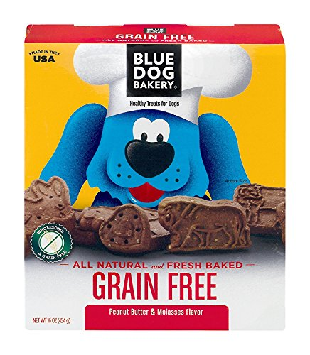 Blue Dog Bakery Healthy Treats For Dogs Grain Free Peanut Butter & Molasses, 16.0 OZ