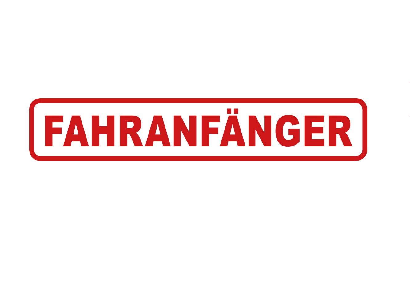 Aufkleber Fahranf/änger Hinweis Vorsicht Anf/änger Waschstrassenfest und UV-Best/ändig