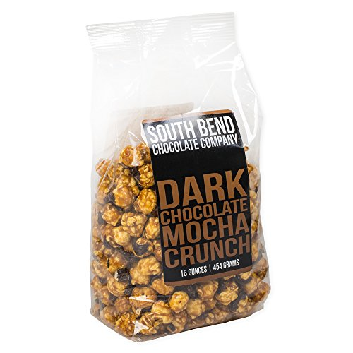 Dark Chocolate Mocha Crunch 16 Ounce Caramel Corn Snack Mix (South Natural Bend)