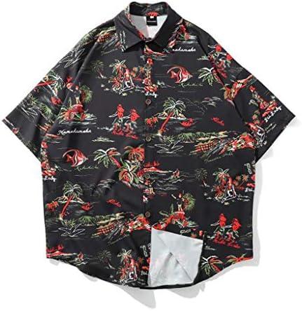 アロハシャツ プリントシャツ メンズ レディース ハワイ風 開襟 ラペル 半袖 UV対策 通気速乾 軽量 カジュアル 薄手 ゆったり 旅行 リゾート ビーチ 海水浴 夏服 花柄 ブラック ネイビー M-2XL