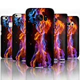 Hairyworm - (BG0009) Blue And Orange Fire Flame Sony Xperia Z2 semi flex plastic cell phone case, cover, hard plastic cell phone case, cell phone cover, cell phone back cover, cell phone protector