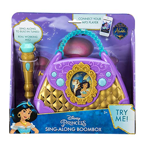 Disney Aladdin Sing Along Boombox with Real Working Microphone Built in Music and Can Connect to MP3 Player by eKids (Image #4)