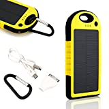 Gearonic Waterproof Solar Power Bank, Yellow