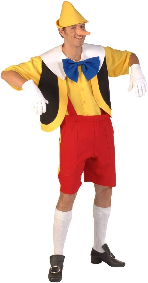 Thetru Disfraz de Pinocho talla M-XL muñeca de madera carnaval ...