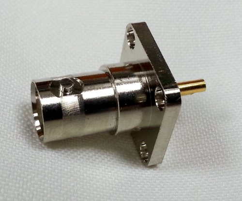 2pcs BNC Female Jack with 4 hole Flange Panel Chassis Mount Solder Connector ()