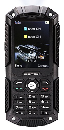Icefox Dual SIM Outdoor Handy,2,4 Zoll Display,IP68 Wasserdicht,Stoßfest,...