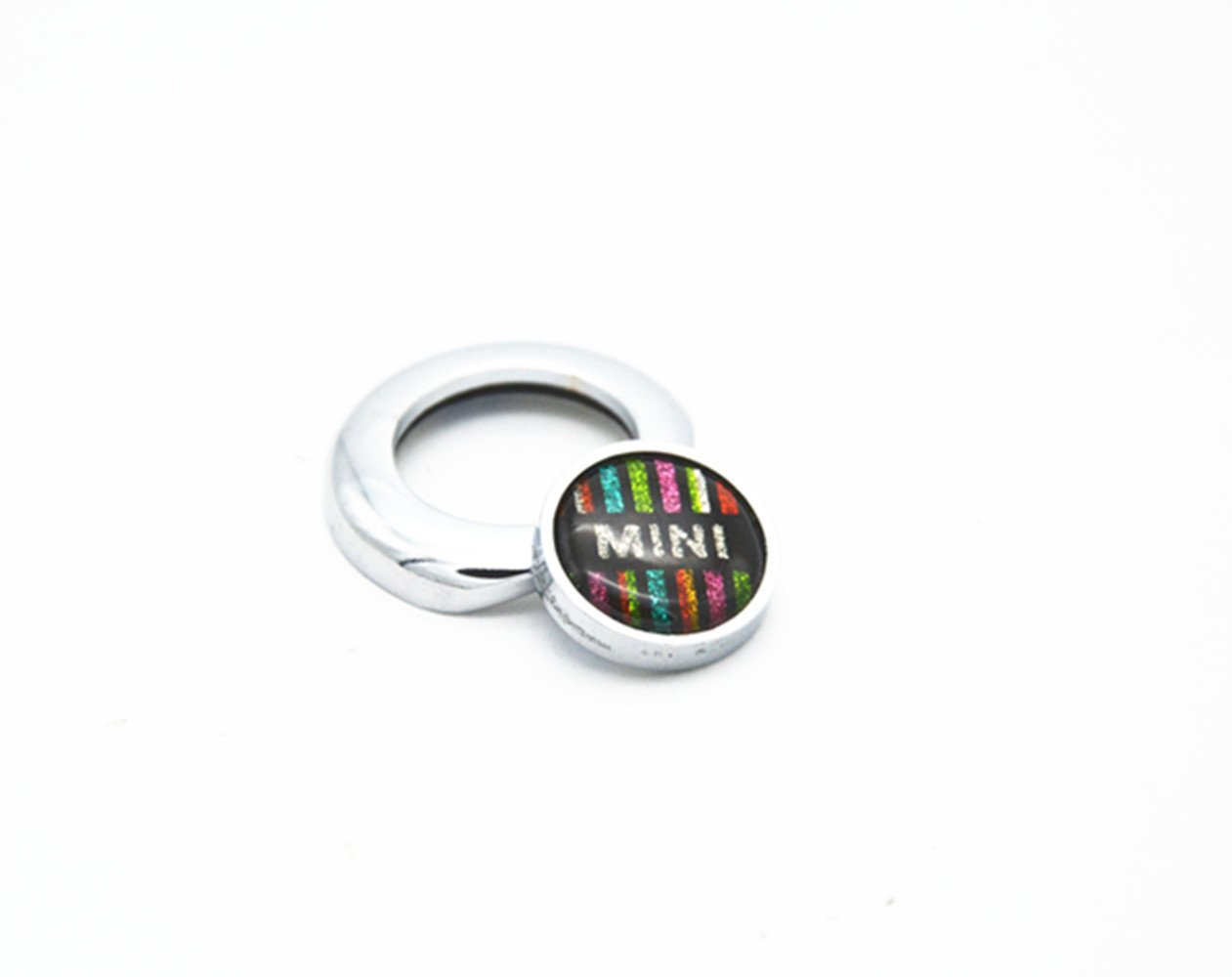 MOTO4U Engine Start Push Button Switch Ignition adhesive Cover Stop Pushbutton Emblem For Mini Cooper ONE//S//JCW R61 R60 R55 R56 R57 R58 R59 F54 F55 F56 F57 F60 Clubman Countryman Hardtop Hatchback In Checkered Flag Design