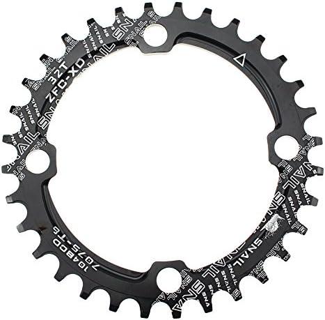 Fahrrad Kettenblatt Single Narrow Wide Einzelnes 104BCD 32-38T Round Zähne