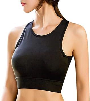 New Women Athletic Running Sports Bra Gym Fitness Seamless Padded Vest Tank Tops