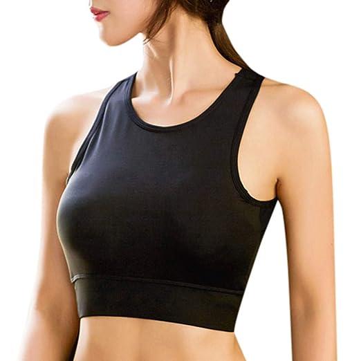 3230093b87fb5 Amazon.com  Caopixx Womens Crop Tank Tops Workout Running High Neck Sports Bra  Built-in Bra Racerback  Clothing