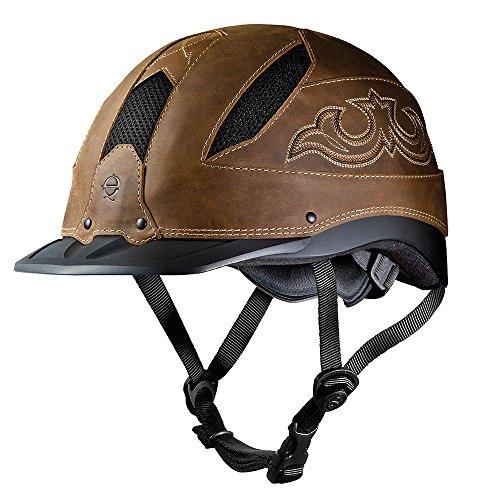 (Troxel Cheyenne Helmet, Brown, Medium)