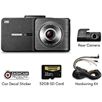 Thinkware X550 D FullHD 1080P 2-Channel Camera 32GB SD Card Front and Rear Camera- BlackboxMyCar Decal Included