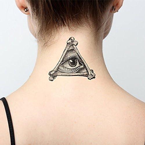 Tatuaje Temporal Tattify - Illuminati- Todo lo ve (Juego de 2 ...