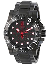 Invicta Men's 14452 Jason Taylor Reserve Chronograph Black Carbon Fiber Dial Black Ion-Plated Stainless Steel Watch