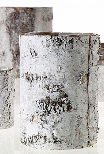 Washed Birch - Richland White Washed Birch Bark Vase 10