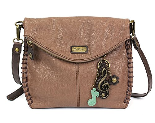 Top Light with Chala Cleft and Metal Crossbody Bag Chain Flap Treble Brown Charming Zipper ZwYUHYRq