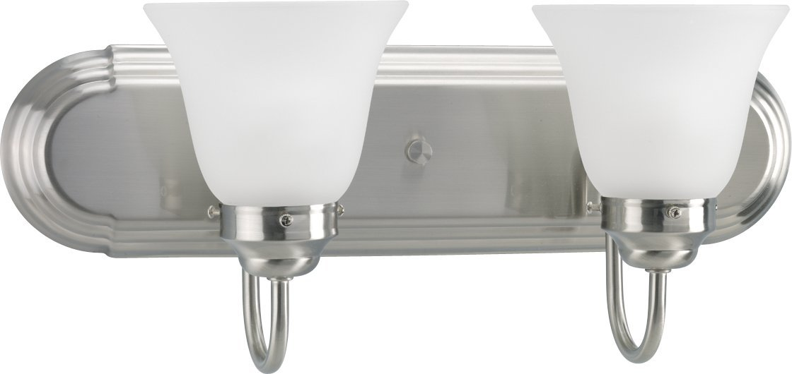 HomeStyle HS21008-09 Two Light Bath Bracket in Brushed Nickel hot sale 2017