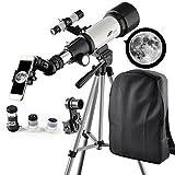Solomark 70mm Apeture 400mm Az Mount Telescope - Good Partner to View Moon and Planet - Travel Scope...