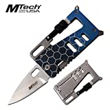 "Wallet Multi-Tool 3.25"" Mtech Portable Tactical Folding Pocket Knife Blue Aluminum Tactical Survival EDC"