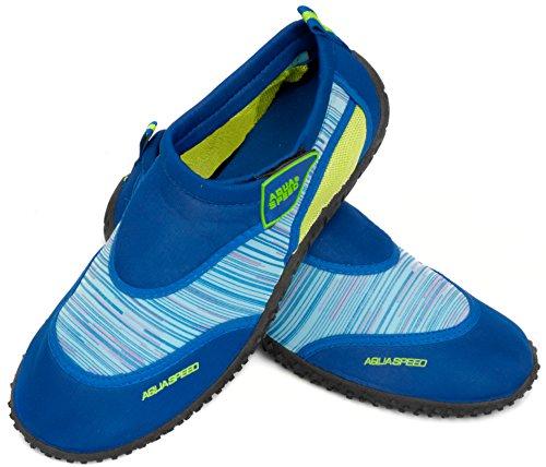 2 Schuhe Damen Aqua MODELL Mikrofaserhandtuch Jugendliche Badeschuhe Grün Neopren Set Herren Blau C Aqua Poolschuhe Kinder Speed qO4Ot