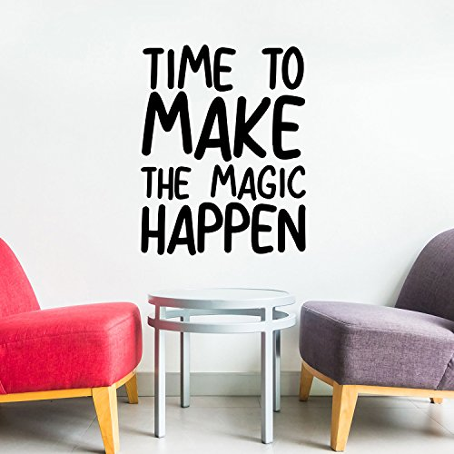 Vinyl Wall Art Decal - Time to Make The Magic Happen - 23