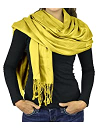 Belle Donne- Women's Scarf Viscose Pashmina Scarves / Shawl Wrap - Solid Colors
