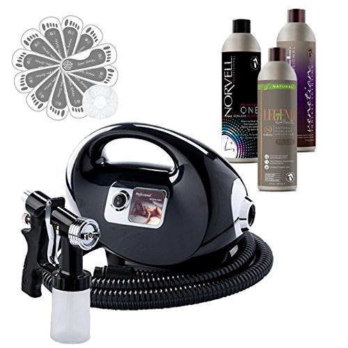 Fascination Spray Tan Machine Kit with Norvell Venetian, Legend Plus and ONE Sunless Airbrush Tanning Solution and Supplies