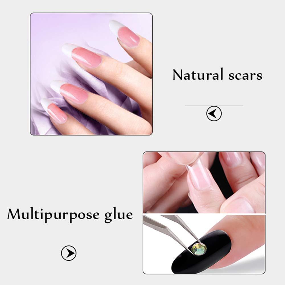 5 pegatinas de uñas de 3 g, superfuertes, pegamento adhesivo profesional, pegamento fuerte para uñas postizas acrílicas, puntas para decoración de uñas, ...