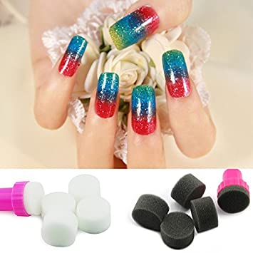 Amazon Kads 10 Pcs Sponge Nail Art Kit For Nail Stamp Tool