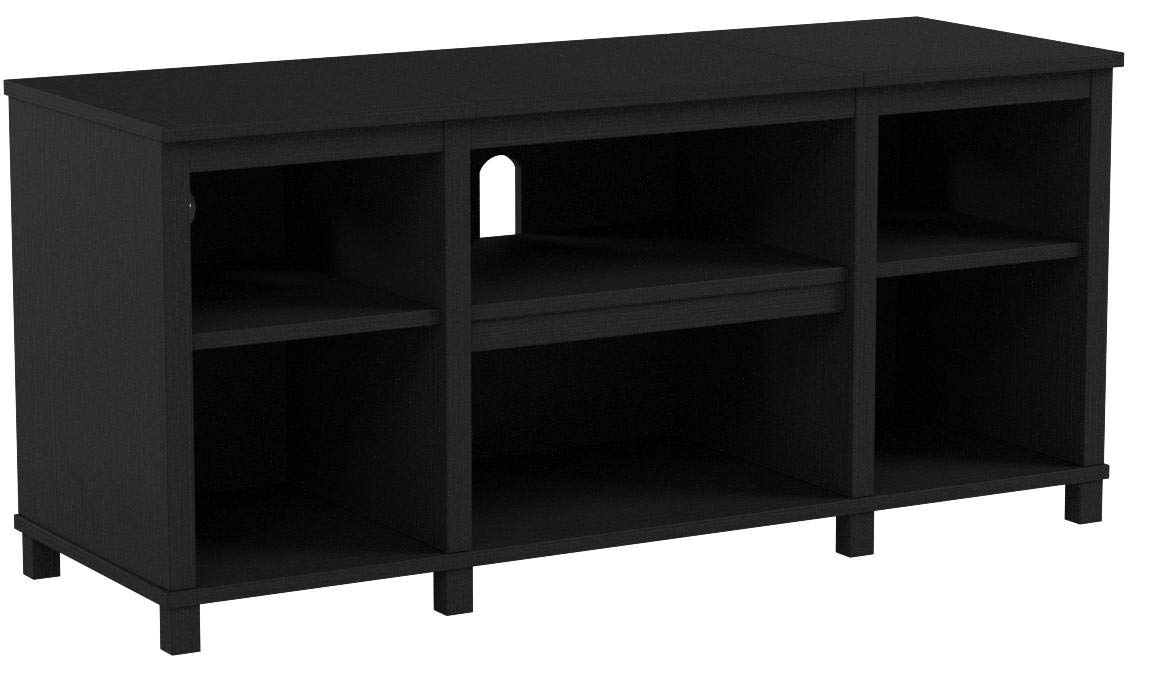 Mainstay.. Parsons Cubby TV Stand Holds Up to 50 TV (Black Oak, 45.39 x 15.75 x 20.87 Inches) by Mainstay