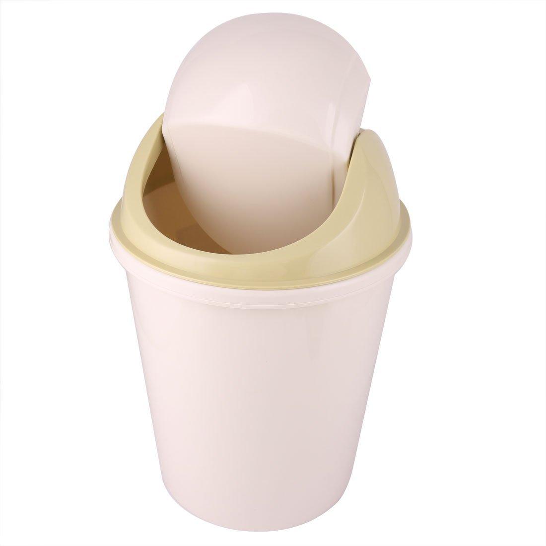 eDealMax plastica Home Kitchen Spazzatura contenitore dei residui di Litter pattumiera Beige Oliva Giallo