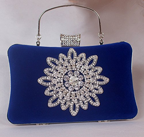bride hand Violet trade Diamond dress party hand dress Ladies handbag gules bag bag Diamond Foreign vpxwOqv
