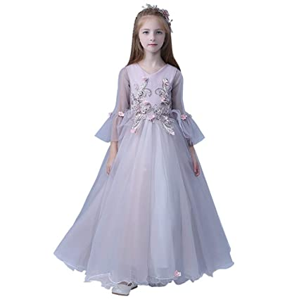 c991283b93d32 Xiao Jian Performance Costume-Princess Dress Girl Fluffy Long Tail Skirt Performance  Costume Piano Host