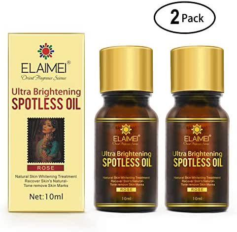 2 PACK Ultra Brightening Spotless Oil Skin Care Natural Pure Dark Spots Remove Ance Burn Strentch Marks Scar Removal Brightening Skin (10 ml) (spotless oil)