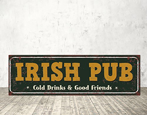 Irish Pub Irish Pub Sign Ourdoor Sign Metal Sign for Bar Sign for Cafe Irish Pub Metal Metal Print Metal Art Vintage ()