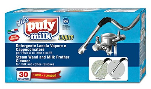 Asachimici: ''Puly Milk'' Steam Wand and Milk Frother Cleaner - 30 Vials, 0.85 Fluid Ounces (25ml) Each [ Italian Import ] by Group Asachimici