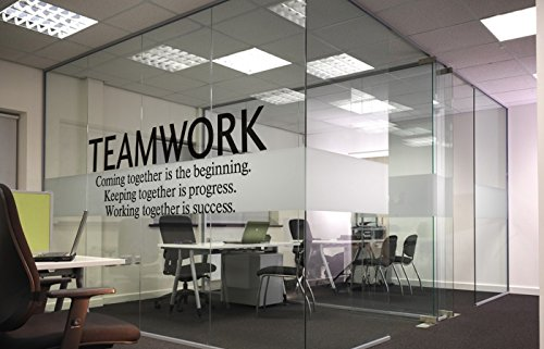 N.SunForest Quotes Wall Decal Teamwork Definition Office Wall Decor  Inspirational Lettering Sayings Wall Art