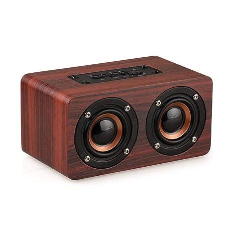 Mini Retro Wooden Bluetooth Speaker Wireless Subwoofer Portable Stereo Sound Box