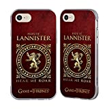 Official HBO Game Of Thrones Lannister Metallic Sigils Silver Fender Case for Apple iPhone 7 / iPhone 8