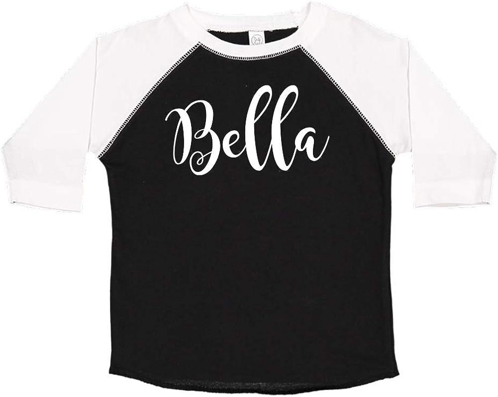 Bella Personalized Name Toddler//Kids Raglan T-Shirt