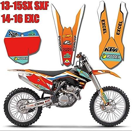 3m Customized Motorrad Bike Team Graphics Sticker Hintergrundaufkleber Für Ktm 125 200 250 300 450 500 Exc Xcw Xcf Xcfw Excf 2014 2015 2016 Tz Ktm Sx35 12 Küche Haushalt