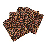 Science Mechanical Gear Nerd Geek Robot Organic Sateen Dinner Napkins Evil Robot Gears (Orange) by Robyriker Set of 4 Dinner Napkins