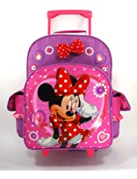 ^Free S&H Minnie Mouse Large Rolling Backpack and Minnie Wallet and Sunglasses Set