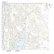 Redmond Wa Zip Code Map.Amazon Com Zip Code Wall Map Of Redmond Wa Zip Code Map Laminated