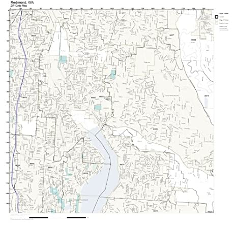 Redmond Wa Zip Code Map.Amazon Com Zip Code Wall Map Of Redmond Wa Zip Code Map Not