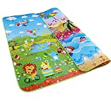 Garwarn 79*71 Inches Extra Large Baby Crawling Mat Non Toxic Baby Play Mat Game Mat Foam Blanket Rug for In/Out Doors?0.2 Inch Thick