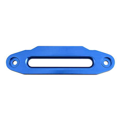 Astra Depot 10 Bolt Pattern Self-Recovery Universal Glossy Blue Aluminum Hawse Fairlead 8000-15000LBs for Synthetic Winch Rope Cable